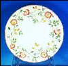 "PAIR CHURCHILL BRIAR ROSE 10"" Dinner Plates ENGLAND - Discontinued A1829"