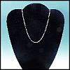 "Dainty Vintage .925 Sterling Silver Necklace ""C"" Chain 16"" Mid-Century Modern"