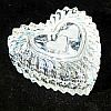 Vintage Yugoslavia 24% Lead Crystal Double Heart Heart Shaped Crystal Trinket Box
