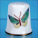 FUKAGAWA Japanese Porcelain BUTTERFLY Collectible Sewing Thimble