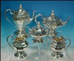 Antique PAIRPOINT Quadruple Silverplate Tea / Coffee Set #388