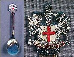 "Vintage Silver Plated Collectible Souvenir Spoon ""DOMINE DIRIGE NOS"" London"