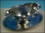 Vintage Silverplate CASTLETON Gravy Boat / Sauceboat INTERNATIONAL SILVER #683