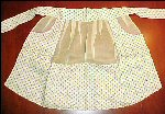 Vintage Hand Made HAND MADE FLORAL HOSTESS APRON Purple & Yellow Flowers Organdy Organza