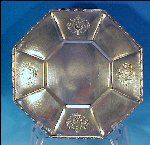 "Victorian Silverplate OCTAGON FOOTED TRAY 10"" Homan Plate"