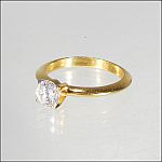 1/2 Ct Brilliant Round Diamond Solitaire Engagement Ring Yellow Gold Color Setting Cubic Zirconium