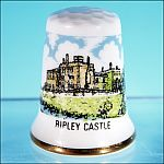 Souvenir Bone China Thimble Made in England RIPLEY CASTLE