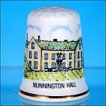 Collectible Bone China THIMBLE - NUNNINGTON HALL / THE NATIONAL TRUST Made in England