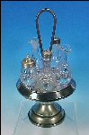 Antique MERIDEN SILVER PLATE CO. Quadruple Silverplate Dinner Cruet Caster Set