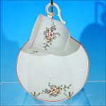 Discontinued VILLEROY & BOCH Porcelain Demitasse Teacup / Tea Cup & Saucer Set ROSETTE