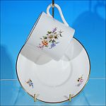 Discontinued ROYAL WORCESTER Demitasse Teacup / Tea Cup & Saucer Set ROANOKE
