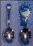 Silver Enamel Souvenir Collectible Spoon FLORIDA