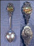 Vintage CAMEO Silverplated Souvenir Collectible Spoon OLD MISSION SANTA BARBARA Perfection Plate Made in Australia