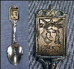 Vintage 1982 STATUE LIBERTY Centennial Celebration Collectible Souvenir Spoon S.L./E.I.Fdn, Inc., Nickel Silver