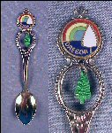 Vintage Collectible Souvenir Enamel Spoon OREGON / Pine Tree Charm