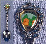 Vintage FORT LEWIS, WASHINGTON Collectible Souvenir Spoon JAPAN