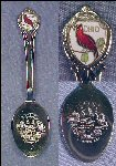 Vintage Collectible Souvenir Enamel Spoon OHIO