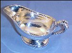 Vintage Silverplate Pedestal GRAVY BOAT SAUCE BOAT Ornate Floral Handle