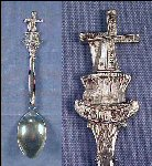 Vintage Silverplate FIGURAL DUTCH WINDMILL Collectible Souvenir Spoon HOLLAND