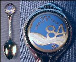 Vintage Silver Tone & Enamel Collectible Souvenir Spoon 1984 WORLD'S FAIR / Louisiana World Exposition
