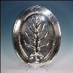 "Vintage International Silver 18"" CONCORD Silverplate Meat Platter #6410"