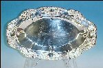 Vintage TOWLE Silverplate Oval Embossed Bread Tray OLD MASTER