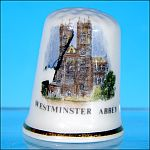 English Fine Bone China Souvenir Thimble WESTMINSTER ABBEY by Jean Manson