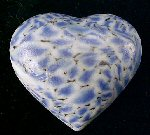 "Unique Blue PUFFY HEART Shaped Cabochon Man-made ""Stone"" Jewelry Necklace Pendant Finding 1-3/8"""