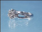 Vintage Cubic Zirconia Cluster 7-Stone Diamond Cocktail Ring