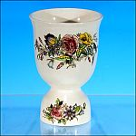 Vintage English Porcelain China DOUBLE EGG CUP Floral Rose