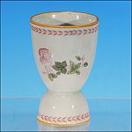 Vintage ADAMS China Co. of England Earthenware China DOUBLE EGG CUP Floral Pink Roses METZ