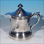 Antique Quadruple Silverplate Creamer Syrup Pitcher Hot Milk Jug Pot W. R. (William A. Rogers)