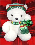 Original 2005 SANTA BEAR Santabear Marshall Field Plush Stuffed Collectible Christmas Holiday Bear
