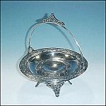 Silverplate Bride's Cake Basket