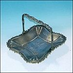 Antique WALDORF QUADRUPLE SILVERPLATE  Silver Plate Cake Dish Basket