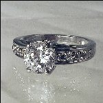 CZ Diamond Round Solitaire Engagement Ring Zirconia
