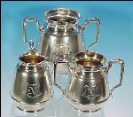 Antique Simpson Hall Miller Quadruple Silverplate Completer Tea Set