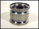 Victorian Quadruple Silver Plate Engraved Napkin Ring G.H.C.