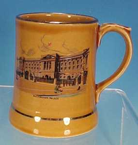 Vintage Irish Wade Ceramic Buckingham Palace Beer Mug