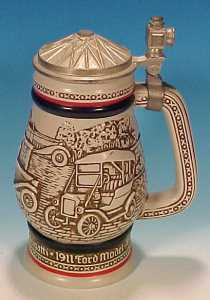 Vintage Avon Lidded Ceramic Beer-Stein Classic Cars 1979