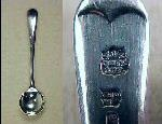 B. & J. Sippel Ltd. Silver Plate Salt Spoon Sheffield, England